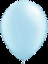 Pearl Light Blue - Latexballon rund