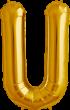Buchstabe U Folienballon gold