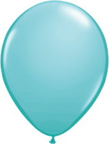 Caribbean Blue - Latexballon rund