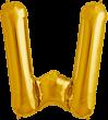 Buchstabe W Folienballon gold