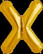 Buchstabe X Folienballon gold
