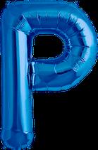 Buchstabe P Folienballon blau
