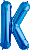 Buchstabe K Folienballon blau