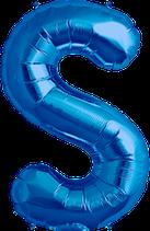 Buchstabe S Folienballon blau