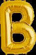 Buchstabe B Folienballon gold