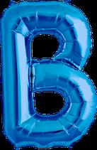 Buchstabe B Folienballon blau