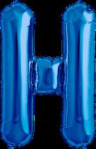 Buchstabe H Folienballon blau