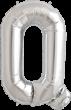 Buchstabe Q Folienballon silber
