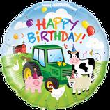Ballon Geburtstag: Happy Birthday Bauernhof Tiere