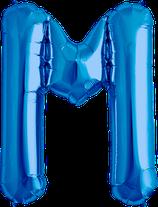 Buchstabe M Folienballon blau