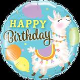 Ballon Geburtstag: Happy Birthday Lama