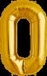 Buchstabe O Folienballon gold