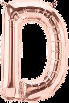 Buchstabe D Folienballon rosegold