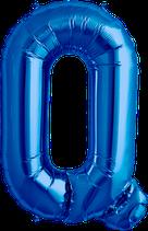 Buchstabe Q Folienballon blau