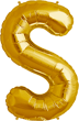 Buchstabe S Folienballon gold