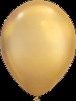 Chrome Gold - Metallic-Latexballon rund
