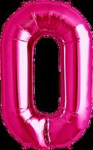 Buchstabe O Folienballon XXL pink
