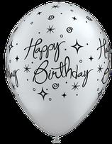25235 Birthday Elegant Sparkles und Swirls - Latexballon rund