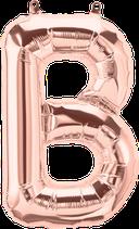 Buchstabe B Folienballon rosegold