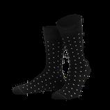 Dots | von Jungfeld Herrensocken in Schwarz mit sichtbaren hellen Tupfen