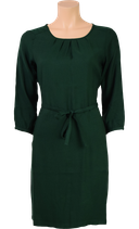 Billie Dress 3/4 uni Viscose Woven  - Sycamore Green - King Louie