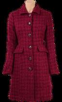 Nathalie Coat Chrysler - plum red - King Louie