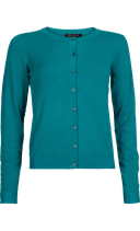 Cardi Roundneck Droplet - Bright Turquoise - King Louie