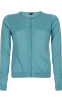 Cardi Roundneck Rocco - water blue- King Louie