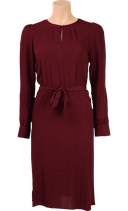 Luna Dress Fancy Viscose  - beet red - King Louie