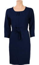 Billy Dress 3/4 Uni Viscose Woven  - dark navy - King Louie