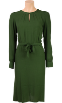 Luna Dress Fancy Viscose  - Thyme Green - King Louie