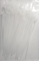 Kabelbinder weiß, 100x2,5mm, 100 Stück