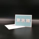 Carte oursons bleue