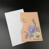 Carte 3D Iris bleu