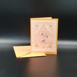 Carte colibris en dentelle de papier