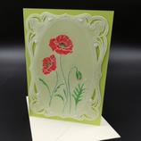Carte coquelicots en dentelle de papier