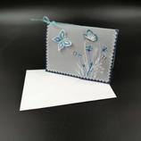 Carte Papillons en dentelle de papier