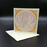 Carte de mariage Colombes & gui en dentelle de papier