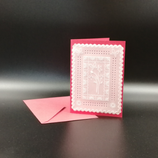 Carte Fleurs en dentelle de papier