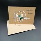 Carte Bougie en dentelle de papier