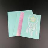 Carte Attrape-rêve en dentelle de papier