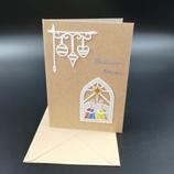 """Carte """"Meilleurs vœux"""" rois mages en dentelle de papier"""