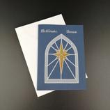 Carte  Étoile vitrail en dentelle de papier.
