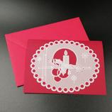 Carte Bougie de Noël en dentelle de papier