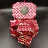 Boite à bijoux octogonale rouge