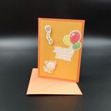 Carte 3D anniversaire chat