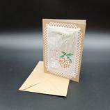 Carte Boules de Noël en dentelle de papier
