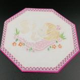 Carte naissance fille en dentelle de papier