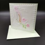 Carte Escarpin en dentelle de papier