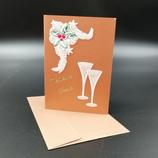 """Carte """"Meilleurs vœux"""" en dentelle de papier"""